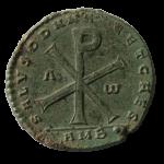 Monnaie gallo-romaine au chrisme frappée en 353 à Amiens