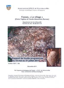 """Fosses """"Le Village"""". Tome XII, décembre 2011"""