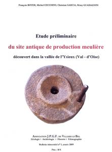 Étude préliminaire du site antique de production meulière