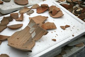 La grêle n'a pas épargné la base archéologique de Fosses