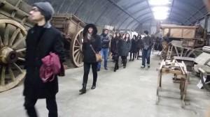 Visite d'étudiants américains au local Carnot de la JPGF à Villiers le Bel (Val d'Oise) le 8 janvier 2015