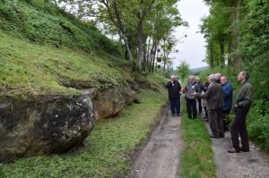 Site de taille du grés de Fosses visité par Moleriae avec la JPGF