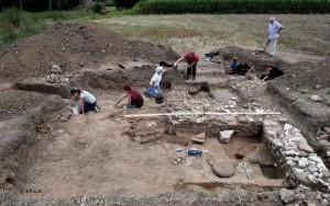 Atelier de potier du Bas Empire étudié à Saint-Brice en 2017